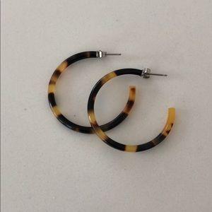 Jewelry - F. Gerald New tortoise shell hoop earrings